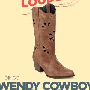 Dingo Wendy Latigo cutout Cowboy boots